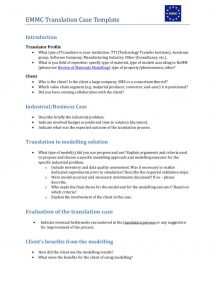 thumbnail of Translation Case and Economic Impact Template