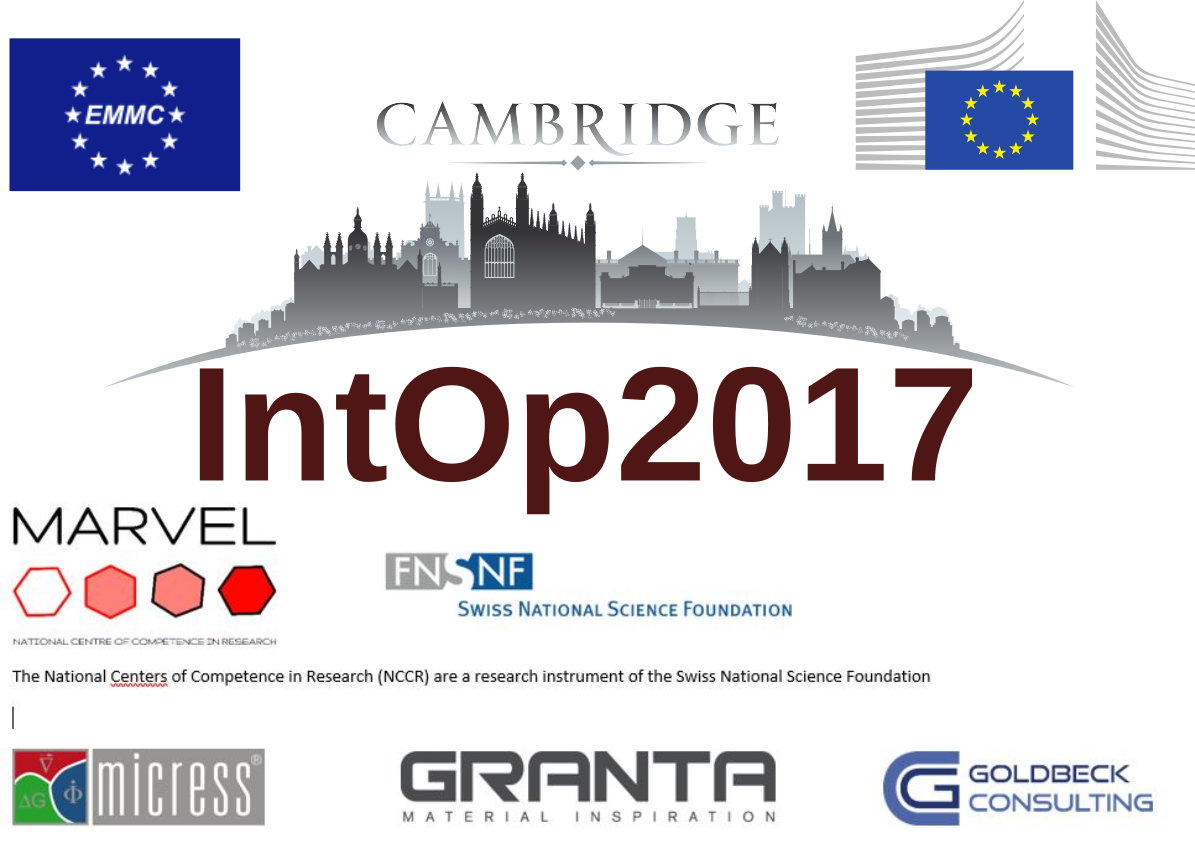 EMMC Workshop on Interoperability in Materials Modelling - IntOP2017