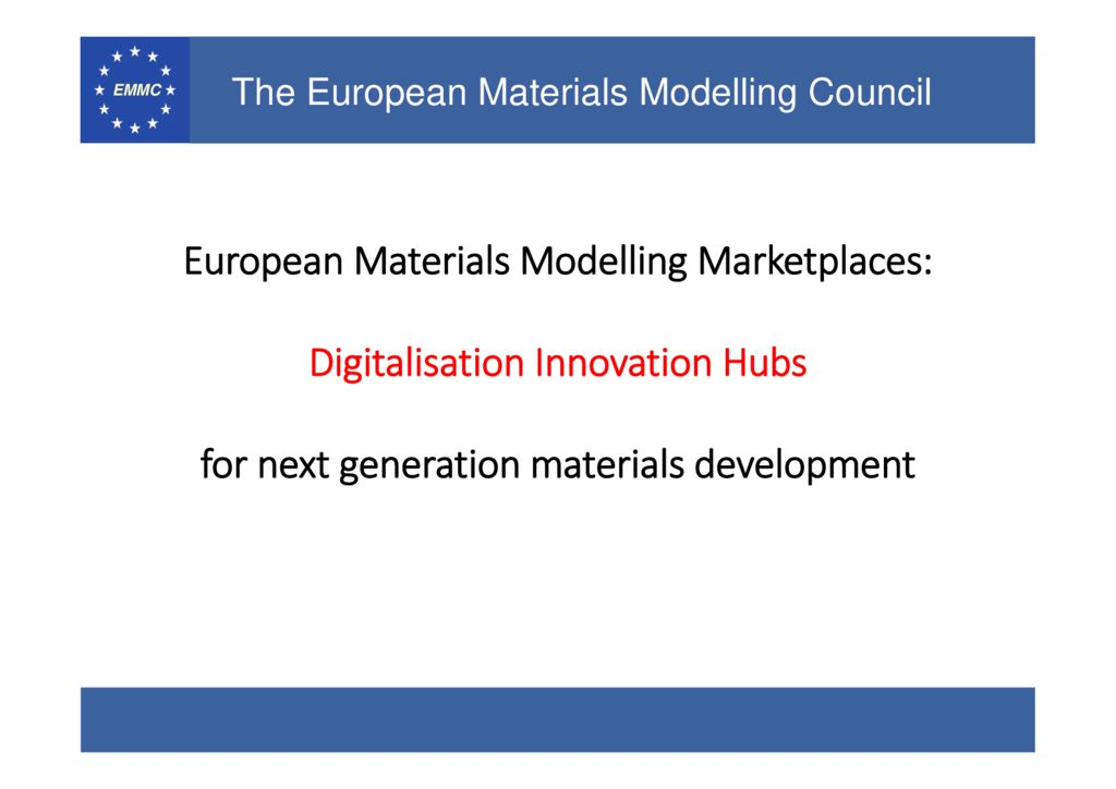 thumbnail of European Materials Modelling- vision beyond 2020