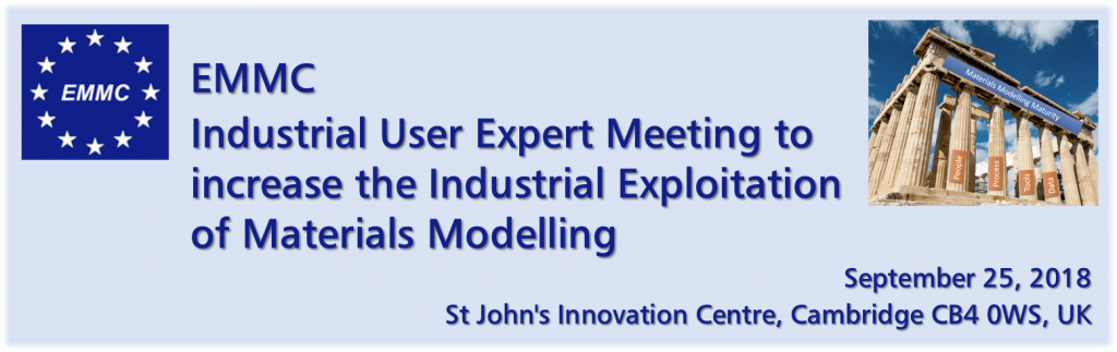 EMMC Industrial User Expert Meeting to Increase the Industrial Exploitation of Materials Modelling
