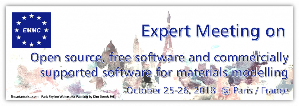 REPORT on EMMC Expert Meeting on Open source, free software and commercially supported software for materials modelling