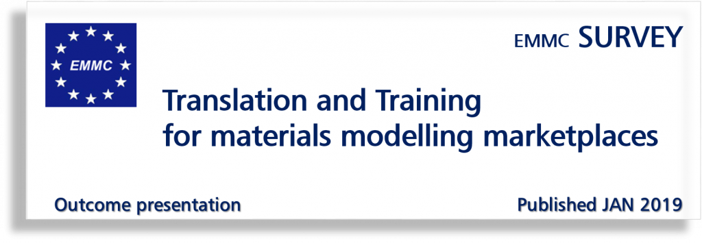 EMMC Survey on Translation and Training for materials modelling marketplaces - outcome presentation